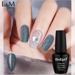 【2 Steps Earth Glitter Color Gel】ibdgel Shimmer Earth Tone Color Series Nail Gel Varnish Gel Polish 15ml