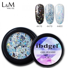 【Glitter Color Decor Gel】8g Jar Glitter Decor Gel Nail Polish Painting Drawing Thick Gel for Manicure