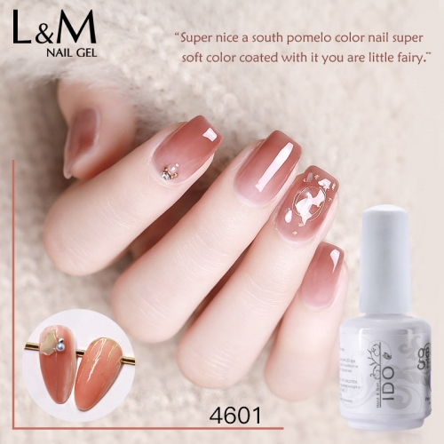 【Jade Jelly Gel】IDO Gelpolish Jade Jelly Gel 24 Nude Pink Glass Color UV Gel Polish