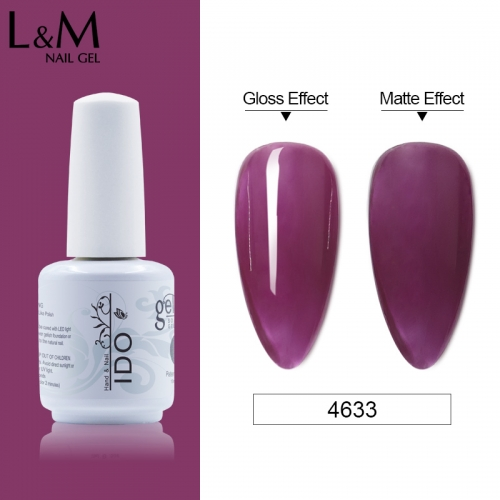 【Dark Color Jelly Gel 】IDO GelPolish Translucent Purple Brown Color Nail Jelly Gel 15 Summer New Color Gellak