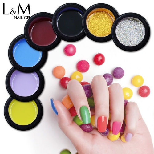 【Pure Color Decor Gel】8g Jar Glitter Decor Gel Nail Polish Painting Drawing Thick Gel for Manicure 65 Colors Options