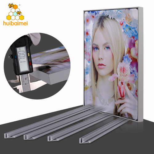 Non-lit aluminum profile 17mm frameless fabric frame for advertising light box