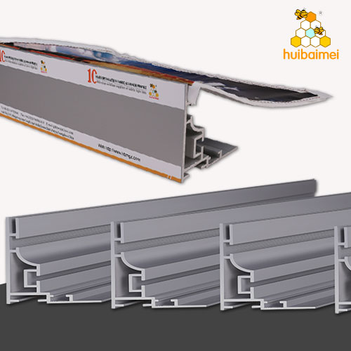fabric aluminum frame frameless aluminum profile manufacturer