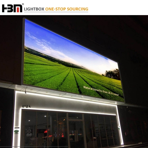 120mm outside wall large size waterproof  advertising led backlit light box,poster banner  display