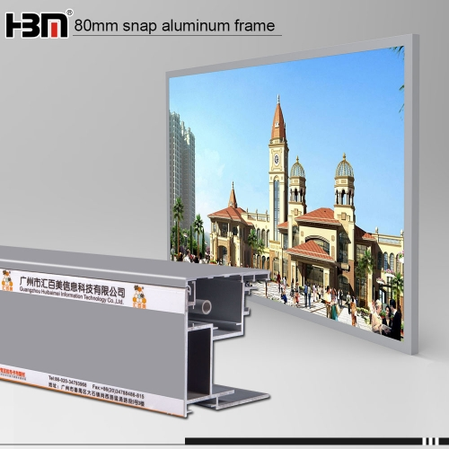 wall mounted  snap backlight frame advertising light boxes led outdoor