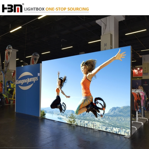 Exhibition Lightboxes Two Sided Frameless Fabric Led Light Box With Backlit Led