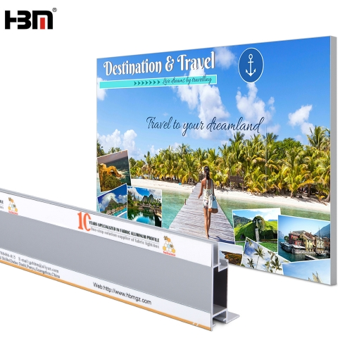 2019 New design wholesale led backlit light box aluminium fabric frame
