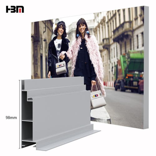 aluminium profile manufacturers fabric light box frame