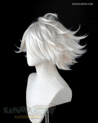 Fate Apocrypha FGO Lancer of Red Karna pearl white thick spiky short wig SP05