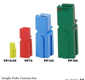 45Amp Power Single Contact Pole Plug Connector Anderson Style