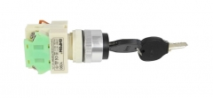 key switch, Onpow, Y090-11Y/21, Φ22mm