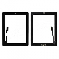 A Touch Screen Digitizer with Home Button for iPad 3 - Black