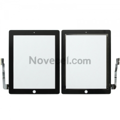 A Touch Screen Digitizer with Home Button for iPad 3 - White