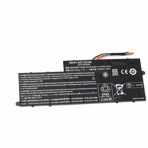 30Wh Acer AC13C34 3UF426080-1-T1000, Aspire KT.00303.005 Battery