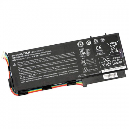 Original 40Wh Acer 2ICP5/60/80-2 AC13A3L KT.00403.013 KT00403013 Battery