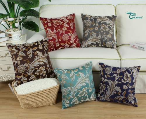 CaliTime Pack of 2 Throw Pillow Covers Cases for Couch Sofa Home Decor Vintage Floral Leaves
