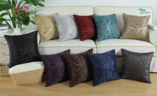 Pack of 2 CaliTime Cushion Covers Throw Pillow Cases Shells for Couch Sofa Home Decor Modern Shining & Dull Contrast Circles Rings Geometric