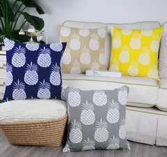 Pack of 2 CaliTime Supersoft Throw Pillow Covers Cases for Couch Sofa Bed Bedding Fluffy White Pineapple Fruit