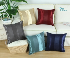 CaliTime Pack of 2 Cushion Covers Throw Pillow Cases Shells for Couch Sofa Home Decoration Modern Shining & Dull Contrast Striped
