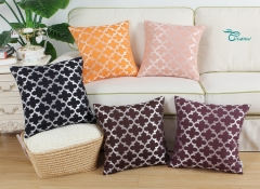 CaliTime Pack of 2 Soft Throw Pillow Covers Cases for Couch Sofa Home Decoration Modern Quatrefoil Trellis Geometric