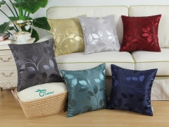 CaliTime Pack of 2 Throw Pillow Covers Cases for Couch Sofa Home Decor Shining & Dull Contrast Vibrant Growing Leaves