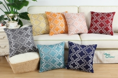 CaliTime Pack of 2 Throw Pillow Covers Cases for Couch Sofa Home Decoration Modern Cute Quatrefoil Chain Geometric