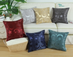 CaliTime Pack of 2 Throw Pillow Covers Cases for Couch Sofa Home Decor Modern Shining & Dull Contrast Stars & Moon