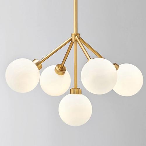 Light Brass Chandelier, Mid Century Modern Brass Chandelier