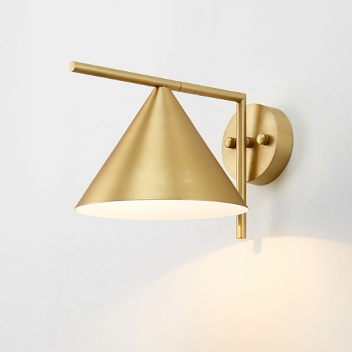 Light Wall Sconce With Cone Shade