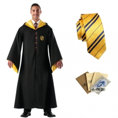Harry Potter Hufflepuff Robe Tie Set
