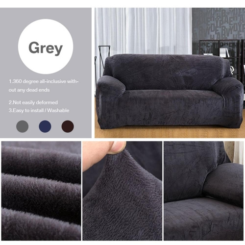 Plush Thicken velet Sofa Cover Universal Sectional Slipcover 1/2/3 seater elastic Stretch Couch sofa Covers for Living Room