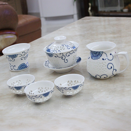 China gongfucha teaware gaiwan with teacups
