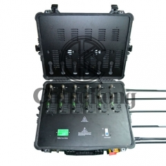 Portable High Power Bomb Jammer with Output Power 300W Mobile Phone 4GLTE WIFI Blocker Jamming up to 400m