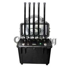 Handheld High Power Cellular jammer 3G 4GLTE Signal Jammer 70W Jamming Up To 100...