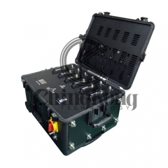 Draw-bar box Portable High Power Drone UAVS Signal Jammer with Output Power 300W Jamming up to 1500m