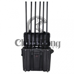 Military Portable High Power Drone UAVS Signal Jammer with Output Power 200W Jamming up to 1000m