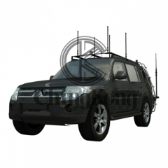High Power DDS Full Band Vehicle Military Convoy Protection Roof Mounted Jammer ...