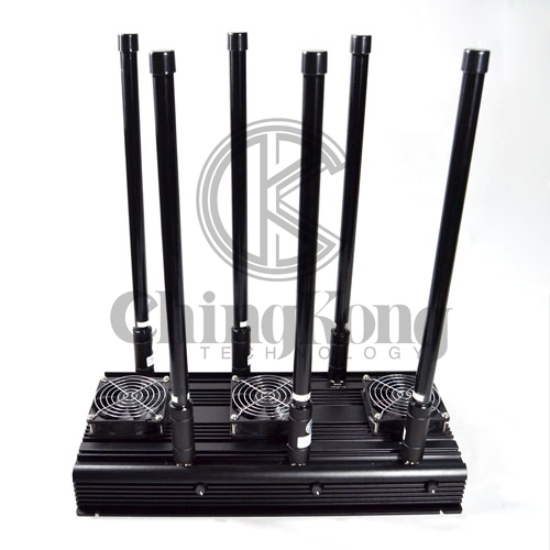 High Power 6 Bands 4GLTE Jammer Indoor Use with Output Power 70W CDMA GSM 3G 4G WIFI2.4Ghz Jamming up to 80m