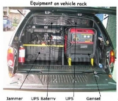 Portable Shockproof Vehicle RF jamming system Wireless Signal Jammer For Military Camp