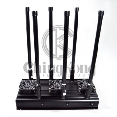 High Power 6 Bands Drone UAVS Jammer Indoor Use with Output Power 80W,Jamming up to 200m