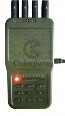 Handheld Wireless Signal Jammer of ABS shell, with Nylon Cover easily carry