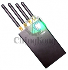 Mini Handheld 4 Antennas Cell Phone WIFI GPS Jammer, Block 2g/3G/4G or GPS WIFI Signals,