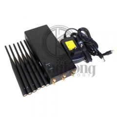 Plus Portable 6 Antennas Cell Phone Jammer, Block 2g/3G/4G and LOJACK GPS WIFI Signals, Bigger Battery