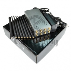 Plus 8 Antennas Portable Cell Phone Jammer,Jamming 2g/3G/4G and LOJACK GPS WIFI Signals, Bigger Battery