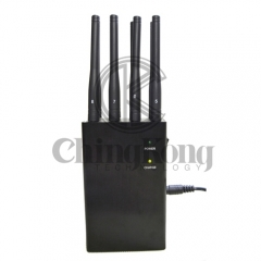8 Antennas Handheld Cell Phone Jammer, Blcok 2g/3G/4G and LOJACK GPS WIFI Signals