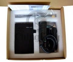 Portable 5 Antennas Cell Phone WIFI GPS Jammer, Block 2g/3G/4G or GPS WIFI Signals