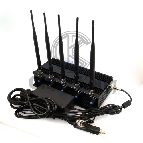 High Quality Mobile Phone Jammer 5 Antennas Adjustable with WIFI2.4G or GPS