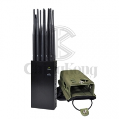 The Latest 10 Antennas Plus Portable Mobile Phone Signal Jammer LOJACK GPS Wi-Fi...