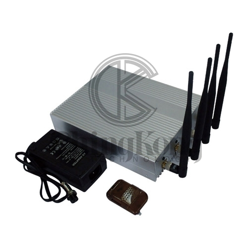 Remote Control Indoor 4 bands Signal Jammer