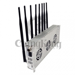 The Latest Mobile phone Signal Jammer 8 Antennas Adjustable 3G 4G Phone signal Blocker with 2.4G GPS